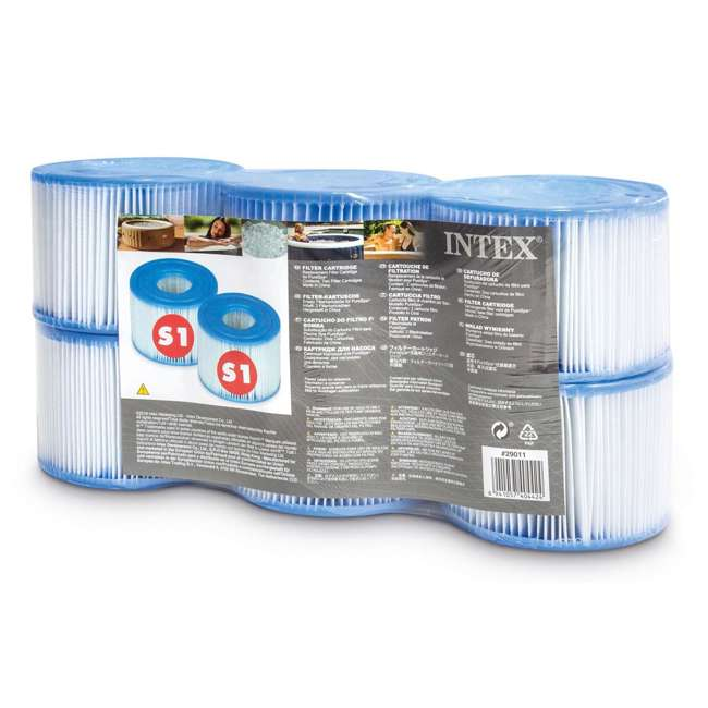 29001WL Intex 29011E Type S1 Easy Set Pool Filter Replacement Cartridges (6 Filters)