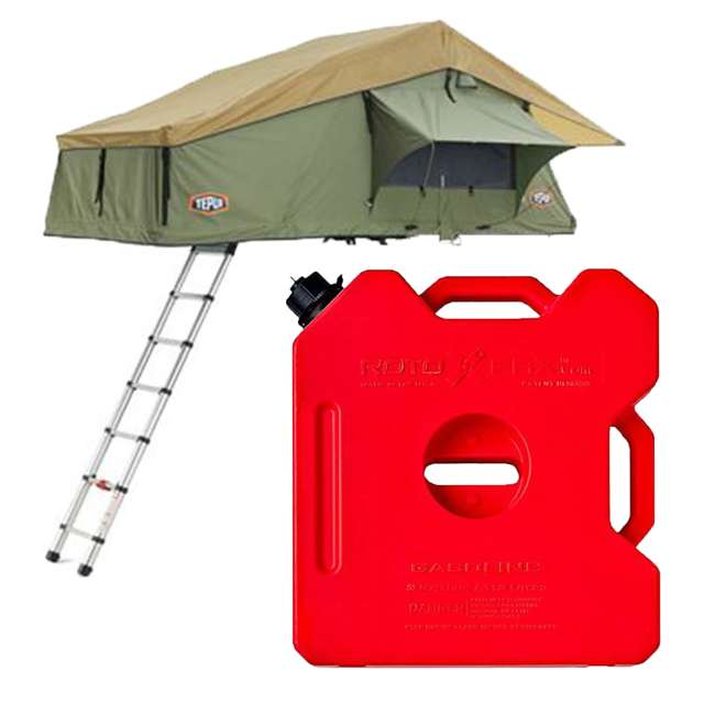 01ASK051601 + RX-3G Tepui Explorer Autana 3 Person Car Camp Roof Top Tent & 3-Gallon Gas Container