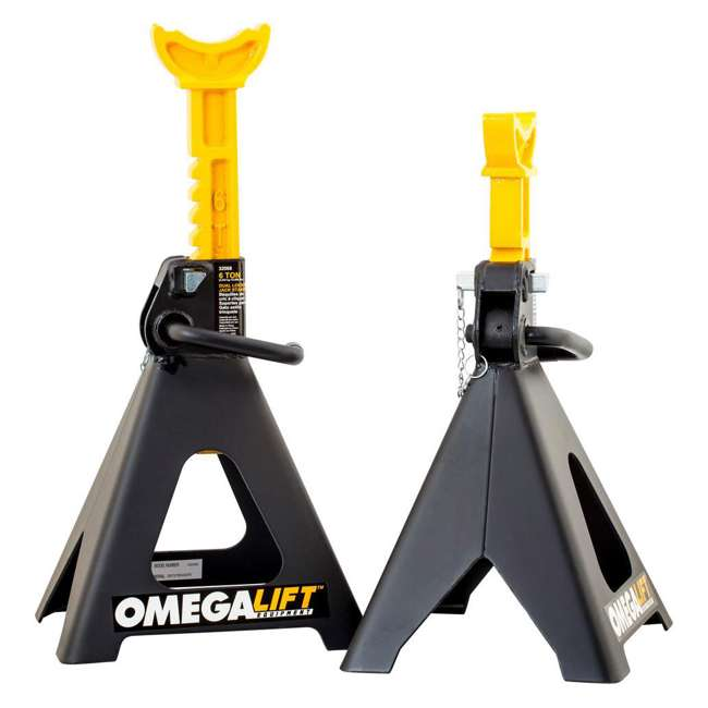 SFA-32068 Omega Lift 6-Ton Double Locking Jack Stands, 1 Pair