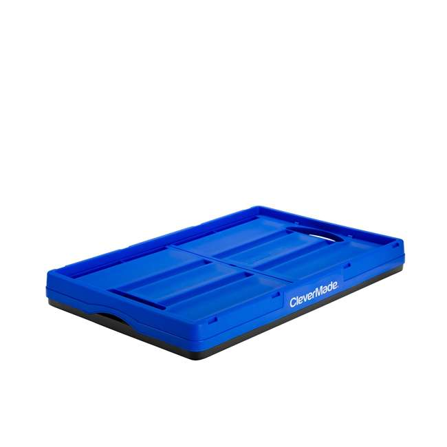 8031844-7033PK CleverMade Durable Stackable 62L Collapsible Storage Bins, Royal Blue (3-Pack) 2