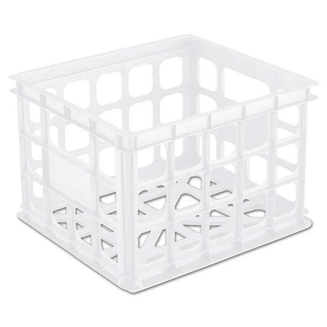 18 x 16928006-U-A Sterilite Plastic Black Storage Box Crate Container Closet (Open Box)(18 Pack)