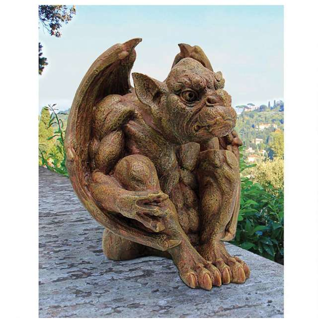JE11209101 Design Toscano Stone Balthazar's Watch Gargoyle Sculpture  (2 Pack) 2