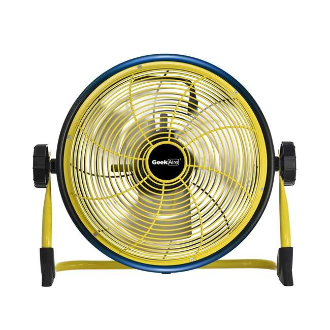CF1 Geek Aire CF1 12 Inch Cordless Variable Speed Rechargeable Outdoor Floor Fan