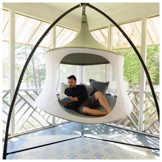 TP1600GR TreePod Cabana Lightweight Heavy Duty Lounger 6 Foot Hanging Daybed, Graphite 5