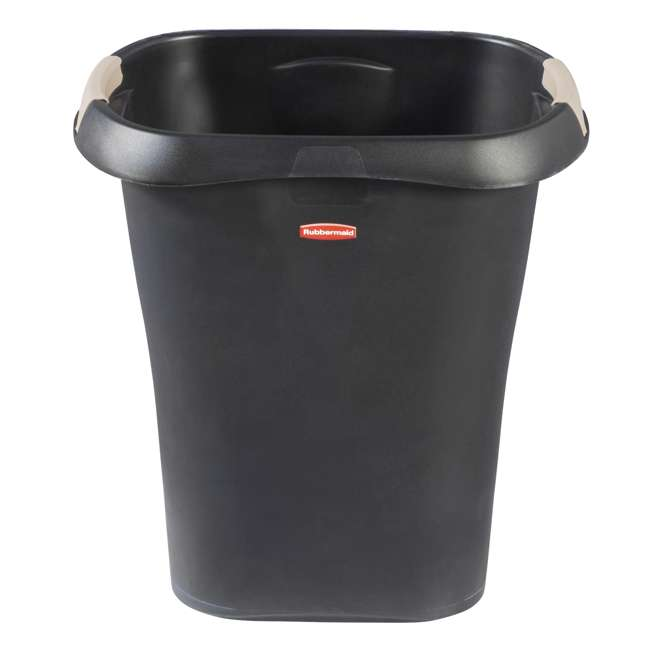 1835854 Rubbermaid 8 Gallon Plastic Home/Office Wastebasket Trash Can with Liner Lock 2