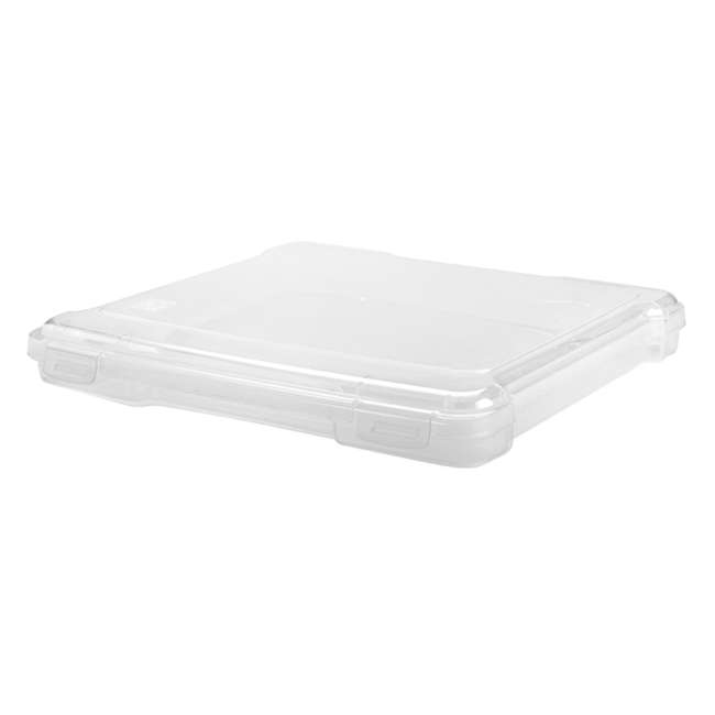 585122-4PK IRIS USA 12 x 12 Inch Hard Plastic Portable Clear Project Case for Paper, 4 Pack