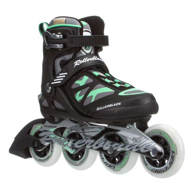 07355500824-7 Rollerblade USA Macroblade 90 Women's Adult Fitness Inline Skates Size 7, Green