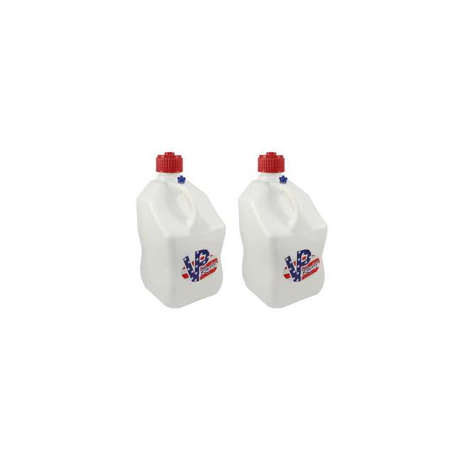35221 VP Racing Fuels 5 Gallon Square Portable Racing Utility Jug, White and Patriotic (2 Pack)