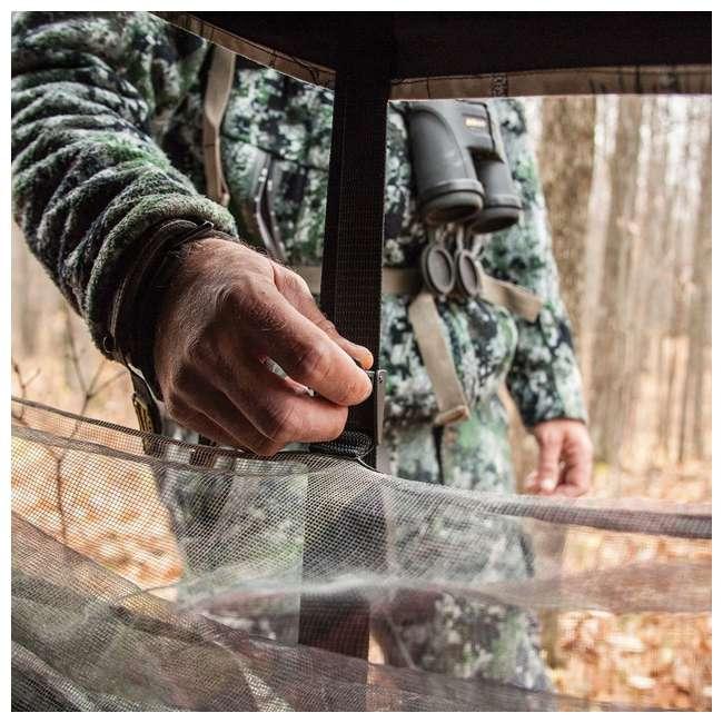 BARR-BM12BW Barronett Blinds Big Mike 2.0 Backwoods Ground Hunting Blind 80 Inch Camouflage  4
