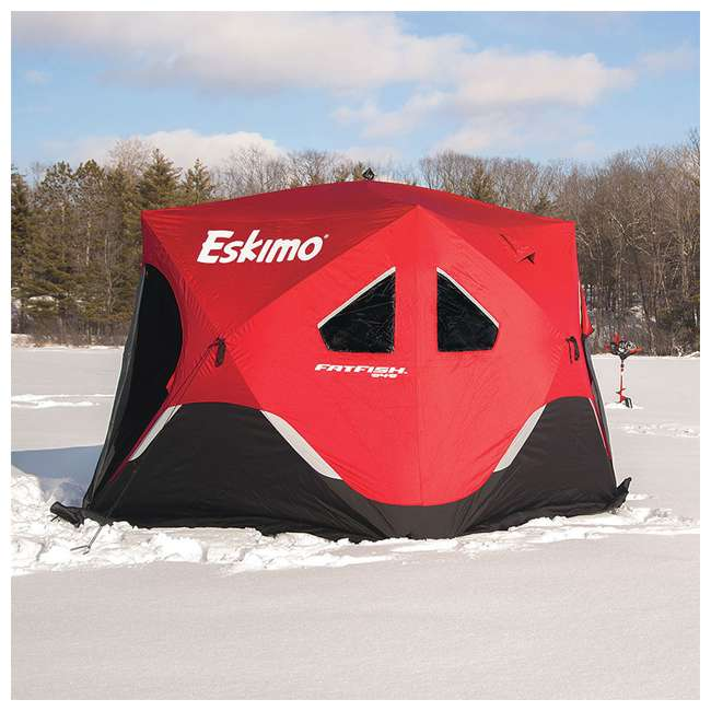 ESK-FF949 Eskimo FatFish Portable 3-4 Person Pop Up Ice Fishing Shelter 5