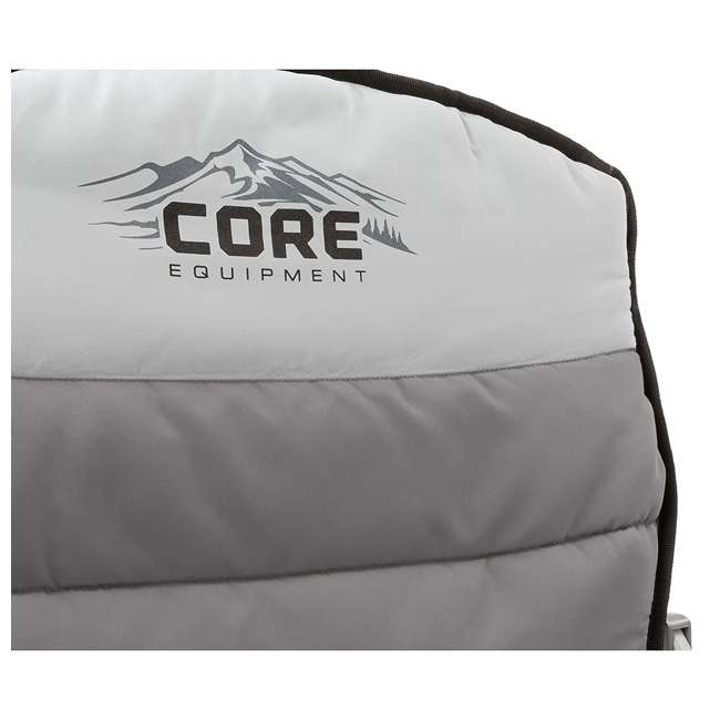 3 x CORE-40070-U-A CORE Padded Hard Arm Chair with Carry Bag, Gray (Open Box) (3 Pack) 1