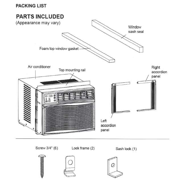 CL-RAC10EWES-U-A Cool Living AC 10,000 BTU Energy Star Window Air Conditioner + Remote (Open Box) 8