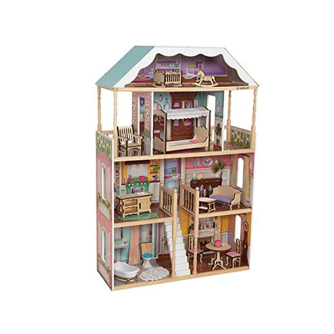 KDK-65956-U-A KidKraft Charlotte Children's Toy 4' Dollhouse w/ EZ Kraft Assembly (Open Box)