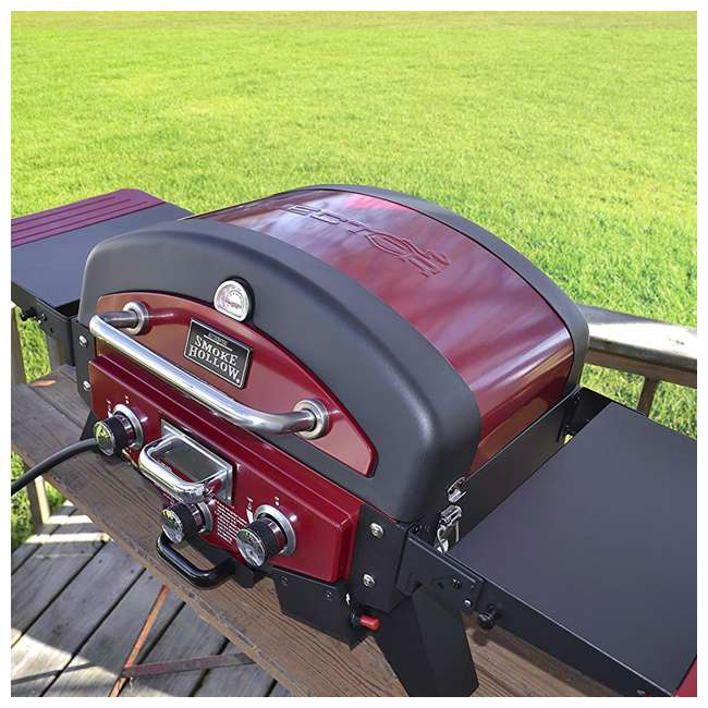 VT280RDS Smoke Hollow Vector Series 2-Burner Portable Gas Grill with Folding Side Table 4