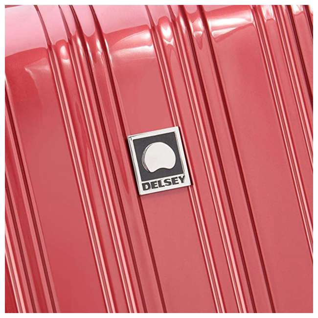 07644RD DELSEY Paris Helium Aero Expandable Rolling Carry On Luggage Suitcase, Brick Red 3