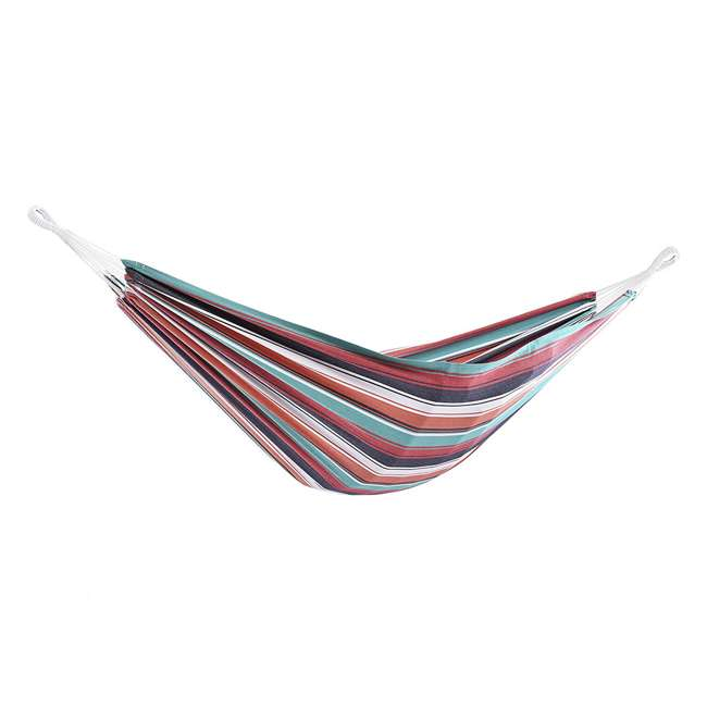 BRAZ130 Vivere Brazilian Style Cotton One Person Outdoor Patio Hammock, Plumeria (Used) 9
