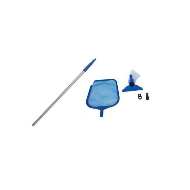 28002E Intex 28002E Cleaning Maintenance Swimming Pool Kit w/ Vacuum Skimmer & Pole
