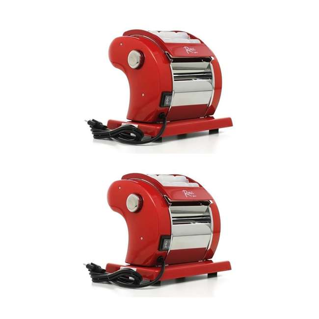 01-0601-W Weston Electronic Roma Homemade Pasta Noodles Machine Maker (2 Pack)