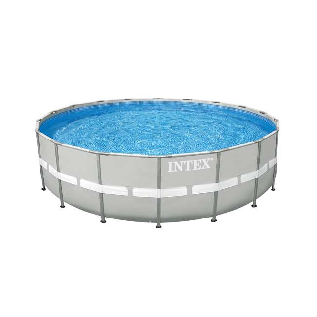 28337EH + QLC-42005 Intex Ultra Frame Swimming Pool Set + Qualco Pool Chemical Maintenance Kit 1