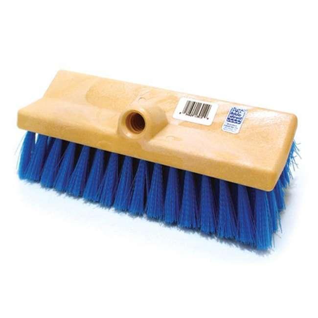 B3518 + B3525 + B3012 + 8350M Blue Devil 18 Inch Brush, 360 Brush, Deck n Acid Brush and Swimline 12 Foot Pole 4