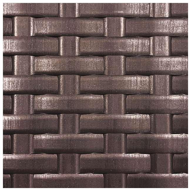 HDEDB73 Plastic Development Group 73 Gallon Resin Outdoor Storage Deck Box, Java Brown 1