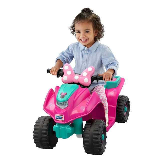 FLK44-U-A Fisher Price Power Wheels Toddler ATV Ride On Minnie Mouse Lil Quad (Open Box) 5