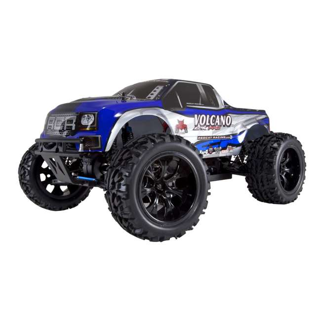 VOLCANOEPPRO-94111PRO-BS-U-C Redcat Racing Volcano EPX Pro 1:10 Scale RC Monster Truck, Blue (For Parts)