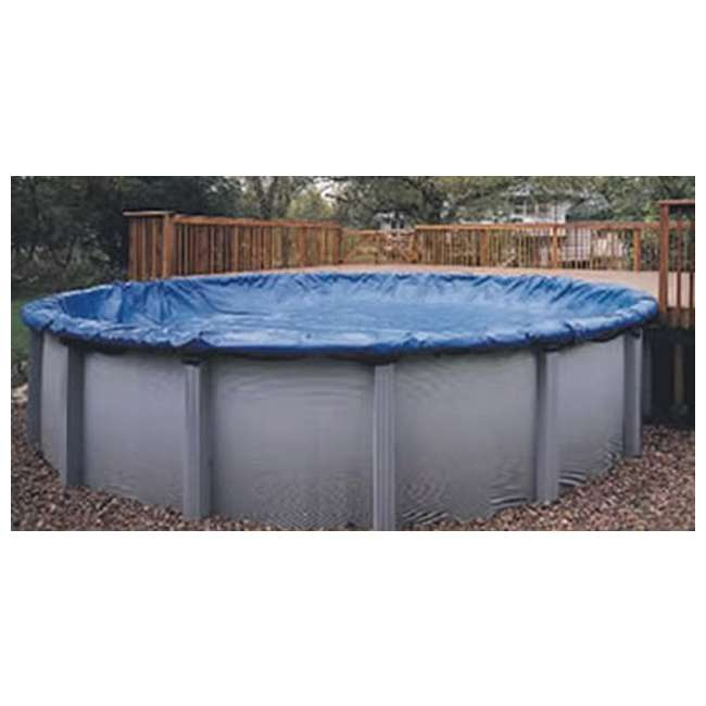 WC710-4-U-A BLUE Winter Round Above Ground Swimming Pool Cover 28' (Open Box)