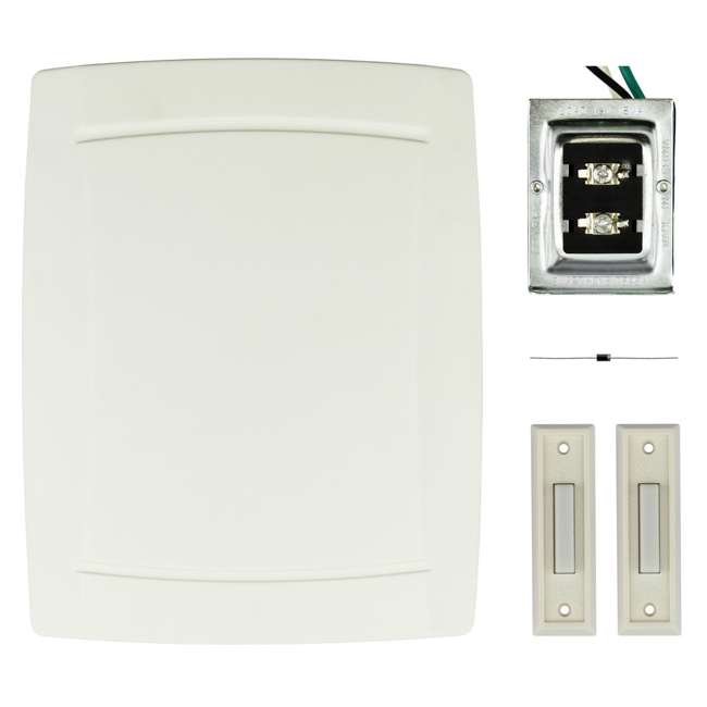 DW-2403A IQ America DW-2403A Contemporary Wired Step Up Westminster Door Bell Chime Kit
