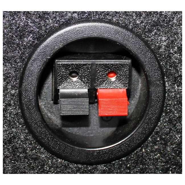 "QSBASS10-VENTED Q-Power QBASS10 Single 10"" Vented Slot Ported Subwoofer Enclosure  4"