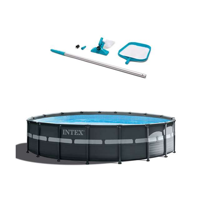 26329EH + 28002E Intex 18 Foot Ultra XTRA Pool Set and Cleaning Kit