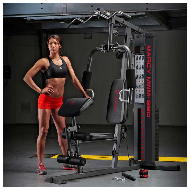 MWM-990-U-A Marcy Dual-Functioning Upper And Lower Body 150-Pound Stack Home Gym (Open Box) 4