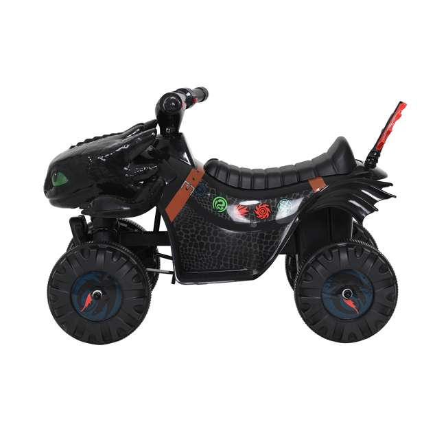 W413D Rollplay How to Train Your Dragon Battery Kid's Mini Quad 4 Wheeler Ride-On Toy 3