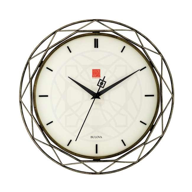 C4834 Bulova Clocks C4834 Luxfer Prism 14 Inch Frank Lloyd Wright Inspired Wall Clock