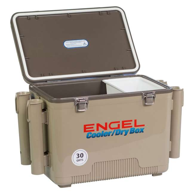 4 x UC30T-RH Engel Coolers 30-Quart Insulated Cooler Drybox with 4 Rod Holders (4 Pack) 4