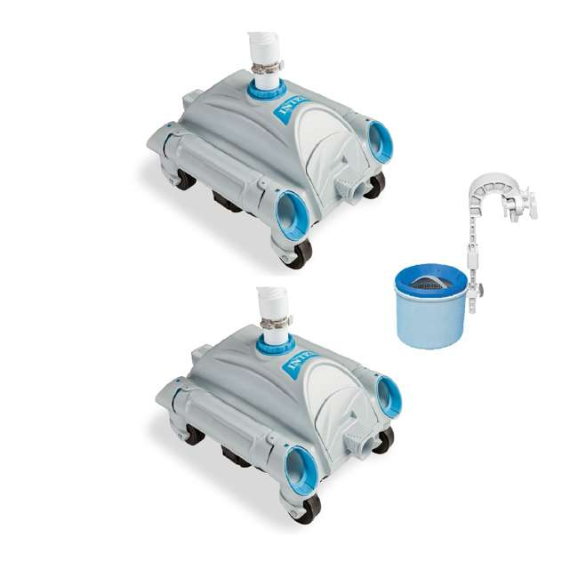 28001E + 28000E Intex Automatic Above-Ground Pool Vacuum (2 Pack) w/ Automatic Skimmer