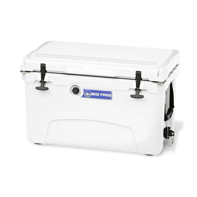 BFDB45-WH Big Frig Denali 45 Quart Insulated Cooler with Cutting Board and Basket, White 1