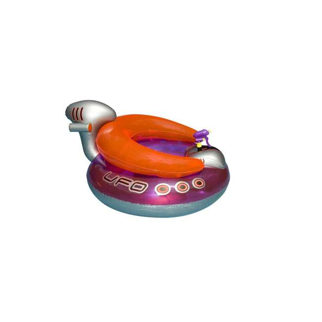 90705 + 9078 Swimline Peacock Giant Pool Float & UFO Lounge Chair Float w/ Squirt Gun 7