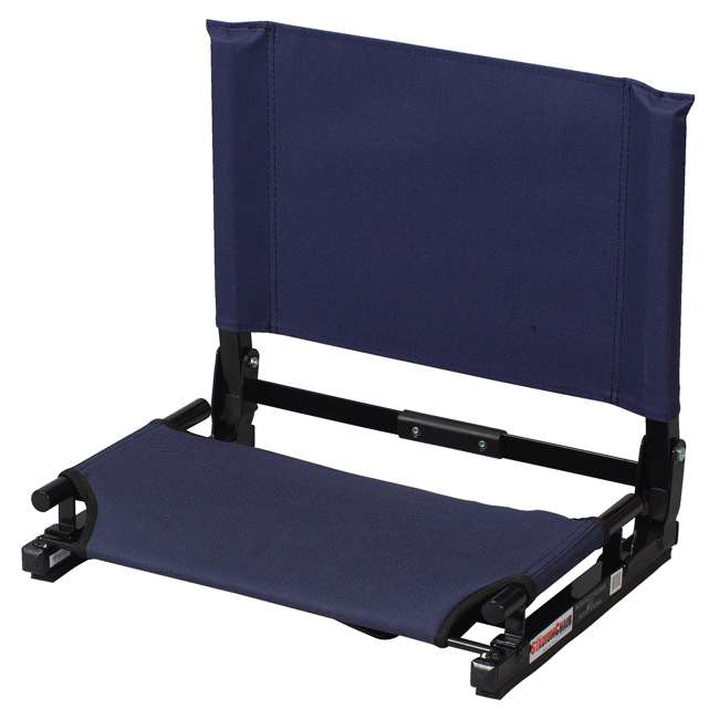 SC2-Navy Stadium Chair Game Changer Portable Folding Canvas Bleacher Cushion Seat, Navy