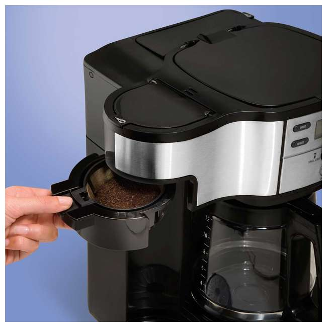 49980A-U-C Hamilton Beach 2 Way Coffee Maker with 12 Cup Carafe and Pod Brewing (For Parts) 3