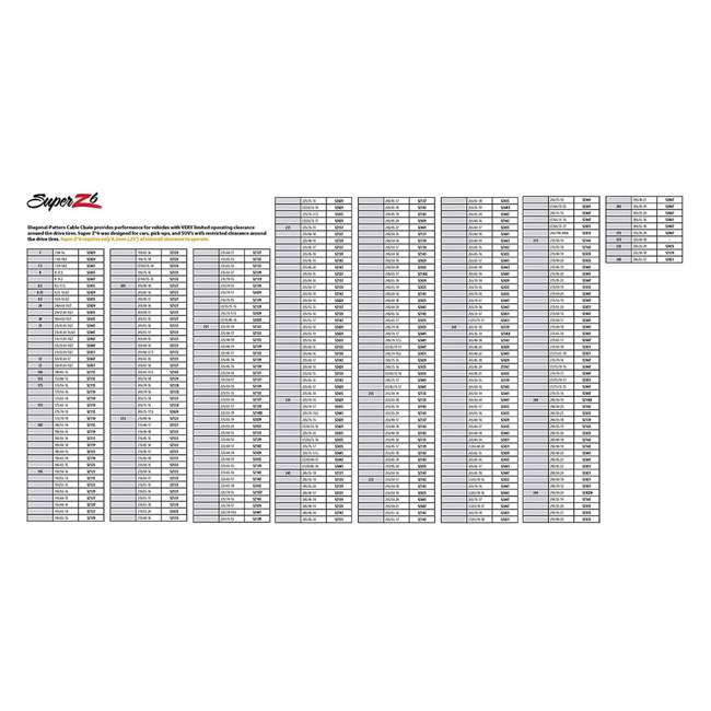 SZ139-U-A Super Z 6 Compact Cable Tire Snow Chain Set for Cars, Trucks, & SUVs (Open Box) 5