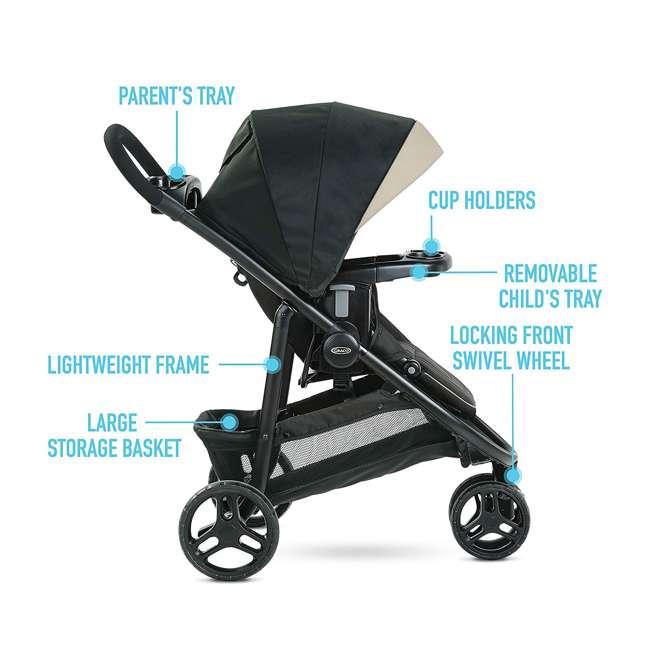 2083432 Graco 2083432 Modes 3 Lite DLX Folding Convertible Toddler Baby Stroller, Pierce 3