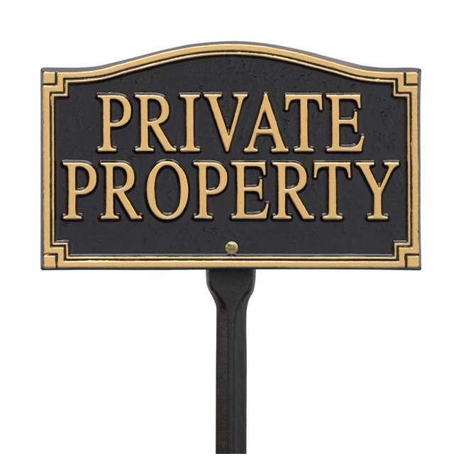 01430 Whitehall 01430 Aluminum Metal Outdoor Residence Private Property Lawn Sign