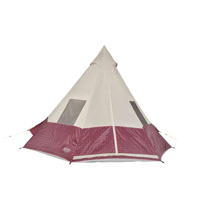 7300818RBP Wenzel Shenanigan 5-Person Teepee Camping Tent, Red Buffalo Plaid
