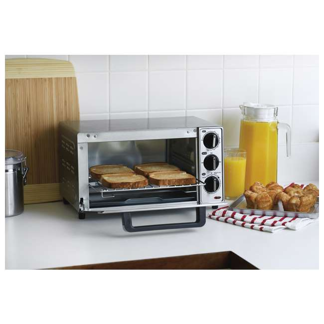 45300 + 31401 Hamilton Beach Coffee Maker and Toaster Oven, Stainless Steel 7