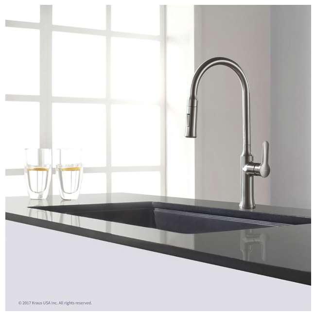 KGU-413B Kraus 31-Inch Rectangle Undermount Black Onyx Kitchen Sink (2 Pack) 5