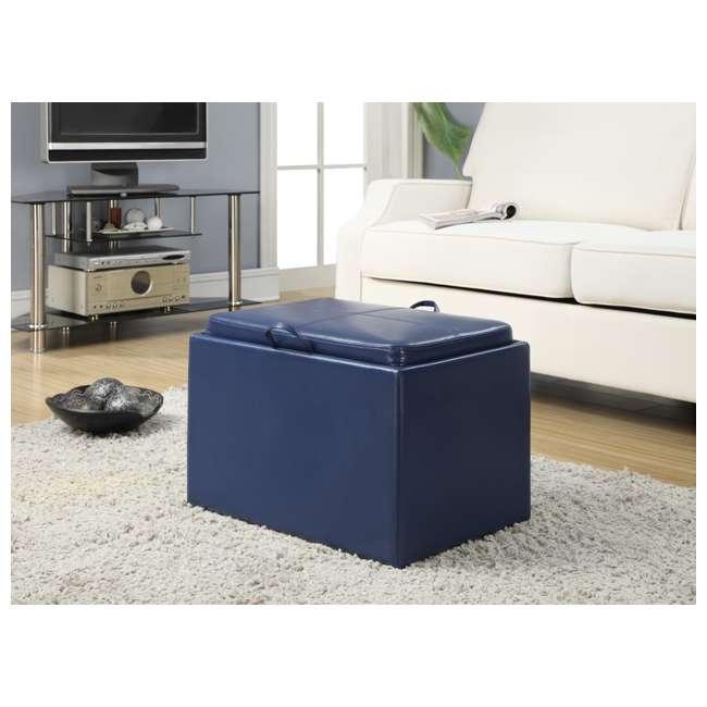 R8-117 Convenience Concepts Designs4Comfort Accent Storage Ottoman - Blue (Open Box) 1