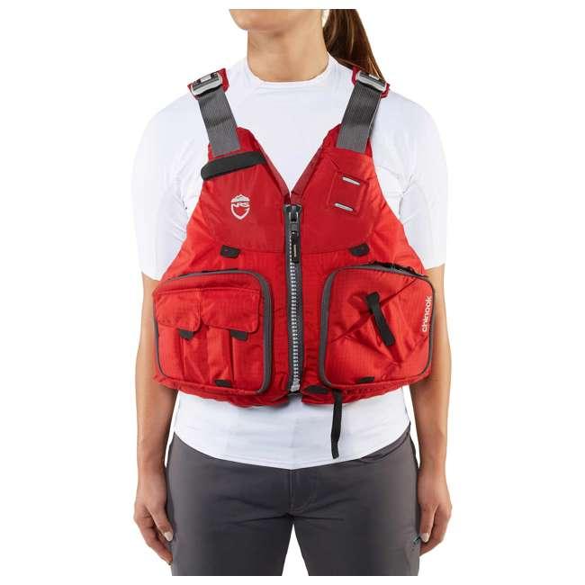 NRS_40009_04_102 NRS PFD Chinook Unisex Fishing Lifejacket, Red, Small/Medium 3