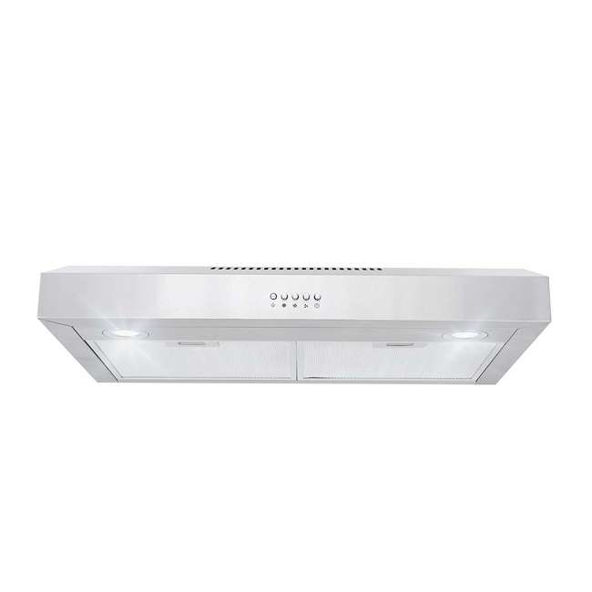 COS-5U30 Cosmo COS-5U30 30 Inch Under Cabinet Range Hood w/ Push Control, Stainless Steel