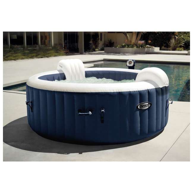 28505E + 2 x 28405E + 2 x 28502E Intex PureSpa 4-Person Inflatable Hot Tub, Slip-Resistant Seat & Foam Headrest  8